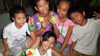 ACTs PH - felt craft session with vicunan kids in Manila